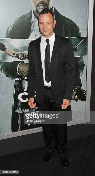 Oscar Pistorius arrives at the Los Angeles premiere of 'Alex Cross' at the ArcLight Cinemas Cinerama Dome on October 15 2012 in Hollywood California