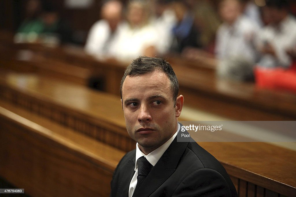 Oscar Pistorius at the Pretoria High Court on March 5 in Pretoria South Africa Oscar Pistorius stands accused of the murder of his girlfriend Reeva...