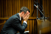 Oscar Pistorius at the Pretoria High Court on March 7 in Pretoria South Africa Pistorius stands accused of the murder of his girlfriend Reeva...