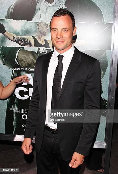 Oscar Pistorius attends 'Alex Cross' Los Angeles Premiere held at ArcLight Cinemas Cinerama Dome on October 15 2012 in Hollywood California