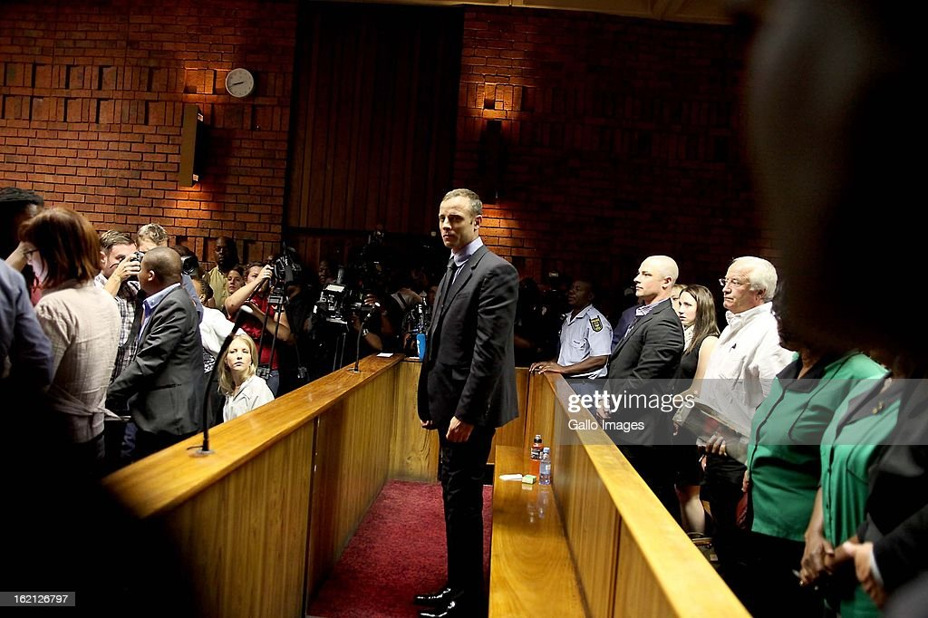 Oscar Pistorius in court during his bail application on February 19 2013 in the Pretoria Magistrate court in Pretoria South Africa Oscar Pistorius...