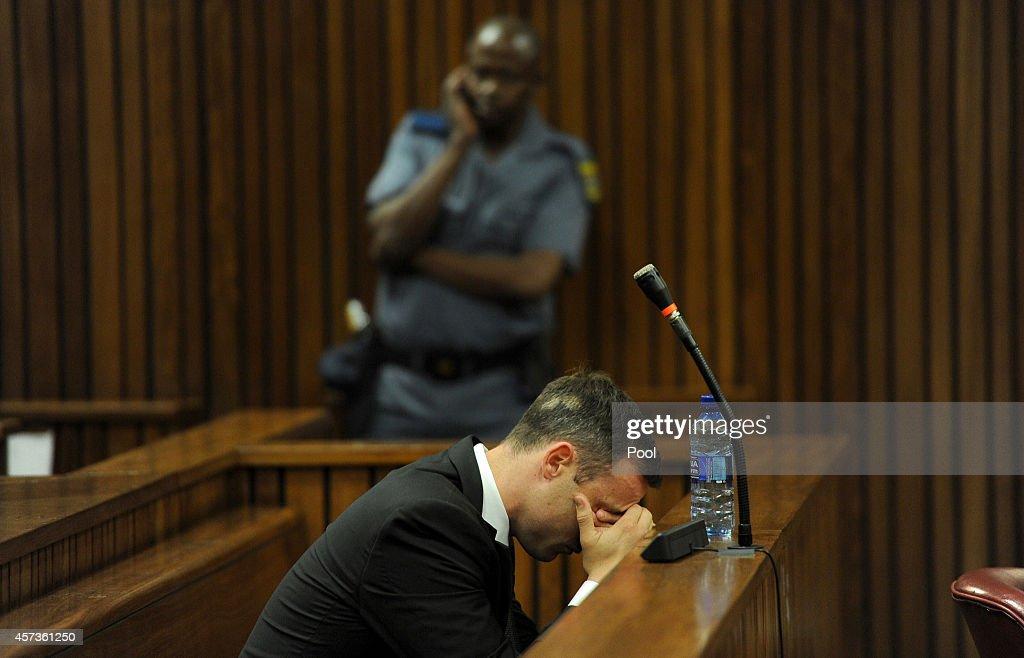Oscar Pistorius in the Pretoria High Court for his sentencing hearing on October 17 in Pretoria South Africa Judge Thokozile Masipa found Pistorius...
