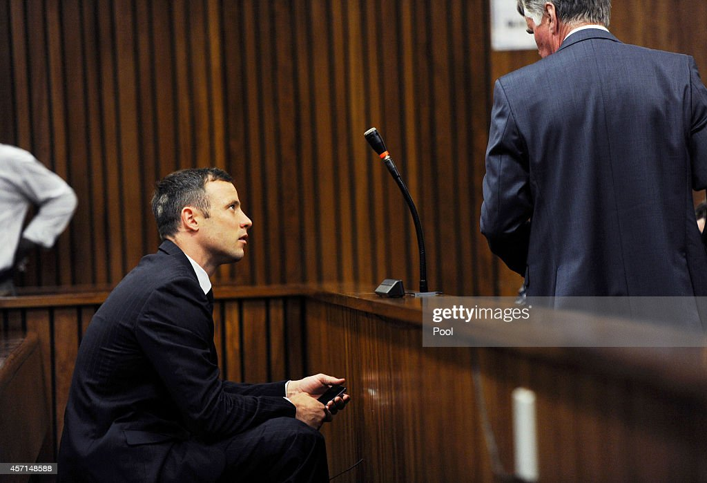 Oscar Pistorius in the Pretoria High Court for sentencing in his murder trial on October 13 in Pretoria South Africa Judge Thokozile Masipa found...
