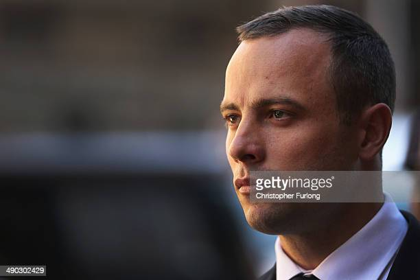 Oscar Pistorius leaves North Gauteng High Court after the judge ordered that he should undergo mental evaluation on May 14 2014 in Pretoria South...
