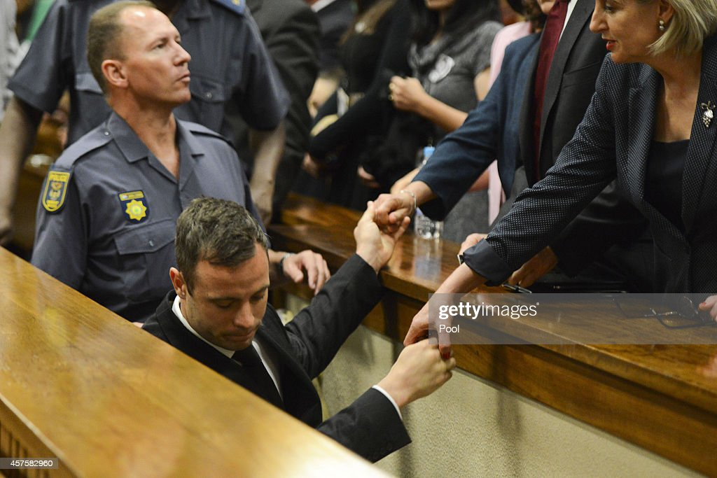 Oscar Pistorius leaves the Pretoria High Court after he is sentenced on October 21 in Pretoria South Africa Judge Thokozile Masipa handed down her...