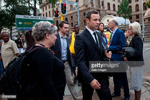 Oscar Pistorius leaves the Pretoria High Court on March 13 in Pretoria South Africa Oscar Pistorius stands accused of the murder of his girlfriend...
