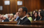 Oscar Pistorius sits in the Pretoria High Court on September 11 in Pretoria South Africa South African Judge Thokosile Masipa is due to give her...