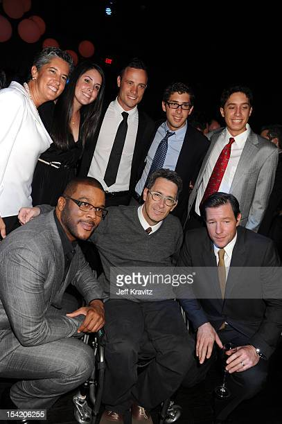 Oscar Pistorius Tyler Perry Marc Moss and Edward Burns at the after party at Lure Nightclub at ArcLight Cinemas Cinerama Dome on October 15 2012 in...