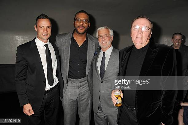 Oscar Pistorius Tyler Perry Robert Friedman and James Patterson at the after party at Lure Nightclub at ArcLight Cinemas Cinerama Dome on October 15...