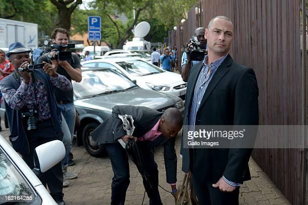 Oscar Pistorius's brother Carl Pistorius outside the Pretoria Magistrate Court on February 19 2013 in Pretoria South Africa Oscar Pistorius who has...