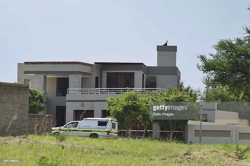 Oscar Pistorius's house at SilverWoods Country Estate on February 14, 2013 in Pretoria, South Africa. Pistorius was arrested following a shooting at his residence; he was taken to Boschkop Police Station.