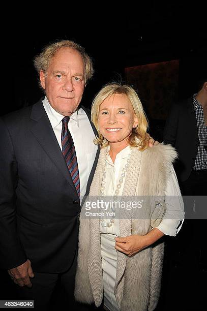 Oscar Plotkin and Sharon Bush attend HANLEY MELLON Fall/Winter 2015 Collection Presentation After Party at Beautique on February 12 2015 in New York...