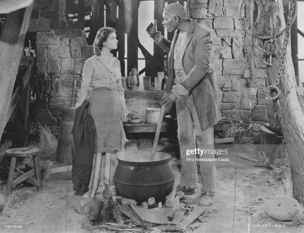 Oscar Polk and Vivien Leigh shown in a scene from 'Gone With The Wind' 1942