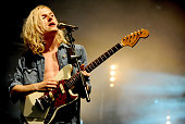 Oscar Pollock of Sundara Karma performs at Bluedot Festival at Jodrell Bank on July 22 2016 in Manchester England