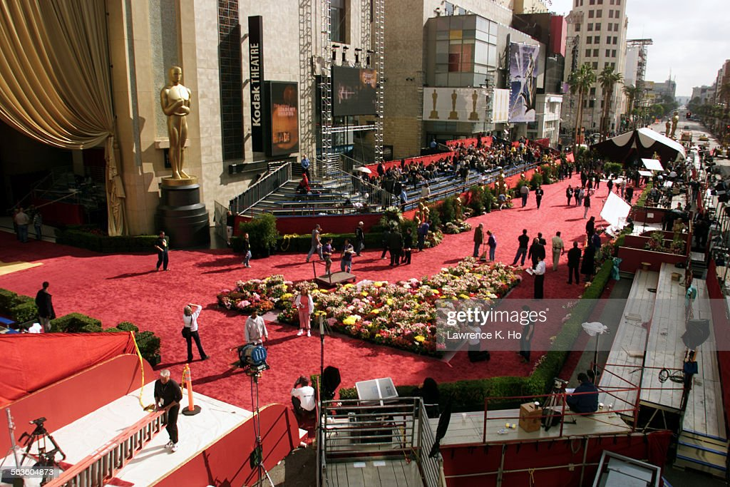 Oscar returns to Hollywood at the Kodak Theatre Pic shows the red carpeted area of Hollywood Blvd