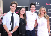 Oscar Revelins actress Camryn Manheim and son Milo Jacob Manheim and Janet Shaw attend the premiere of STX Entertainment's' 'Bad Moms' at Mann...
