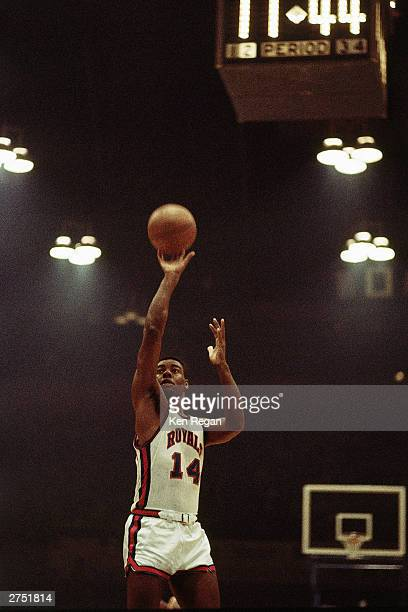 Oscar Robertson of the Cincinnati Royals shoots a jumpshot during the NBA game at the Cincinnati Gardens during a 1967 game in Cincinnati Ohio NOTE...