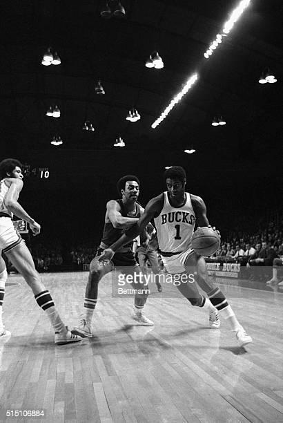 Oscar Robertson of the Milwaukee Bucks is shown in action against Buffalo