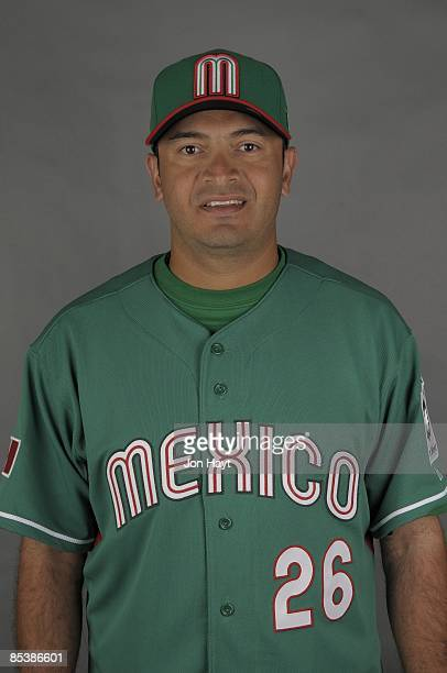 Oscar Robles of team Mexico poses during a 2009 World Baseball Classic Photo Day on Monday March 2 2009 in Tucson Arizona