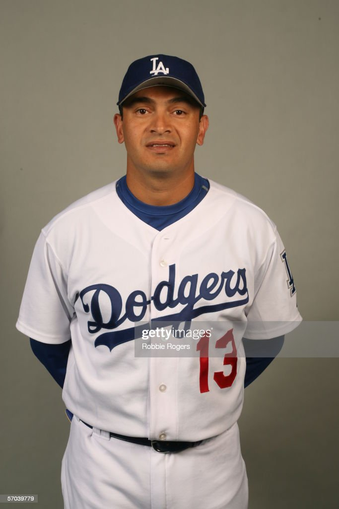 Oscar Robles of the Los Angeles Dodgers during photo day at Holman Stadium on March 1 2006 in Vero Beach Florida