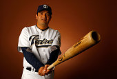 Oscar Robles of the San Diego Padres poses for a portrait during spring training on February 22 2008 at the Peoria Sports Complex in Peoria Arizona