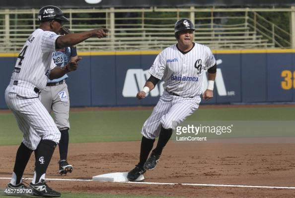 Oscar Robles runs to the third base during a match between Tigres de Quintana Roo and Guerreros de Oaxaca as part of the Mexican Baseball League 2014...
