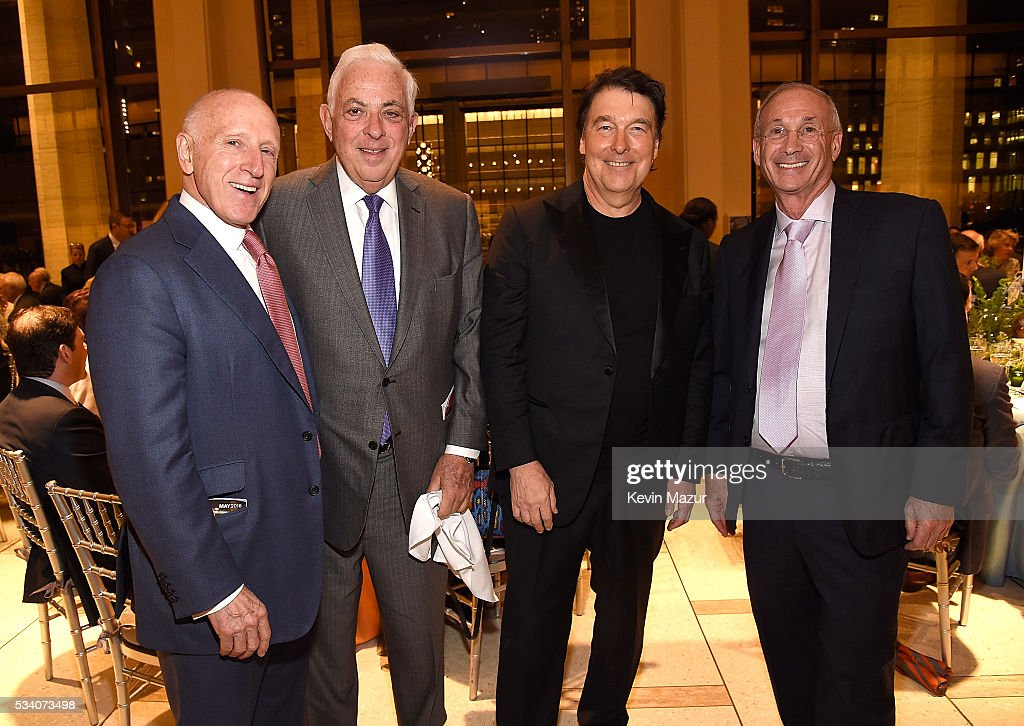 Oscar Schafer, Lawrence Ackman and David Newman attend New York Philharmonic's Spring Gala, A John Williams Celebration at David Geffen Hall on May 24, 2016 in New York City.