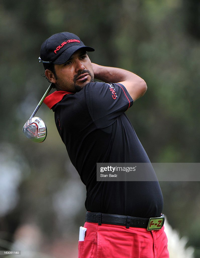 Oscar Serna of Mexico hits a drive on the second hole during the final round of the Colombia Championship at Country Club de Bogota on March 3, 2013 in Bogota, Colombia.