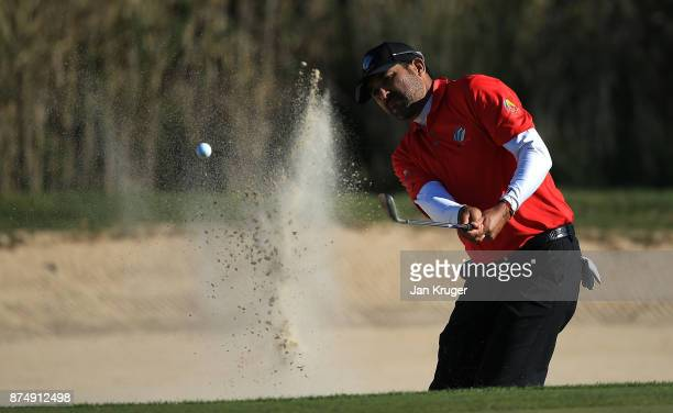 Oscar Serna of Mexico in action during the final round of the European Tour Qualifying School Final Stage at Lumine Golf Club on November 16 2017 in...