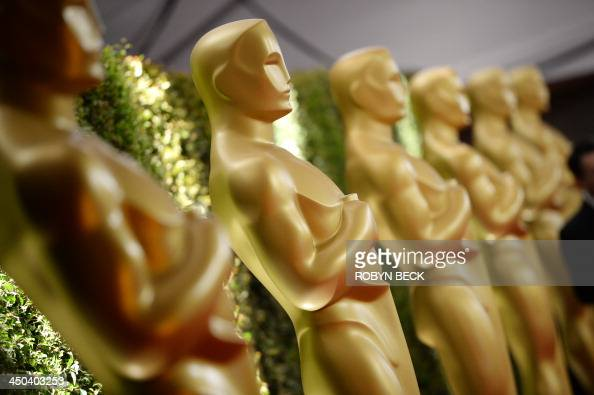 Oscar statues are seen at the 2013 Governors Awards presented by the American Academy of Motion Picture Arts and Sciences at the Hollywood and...