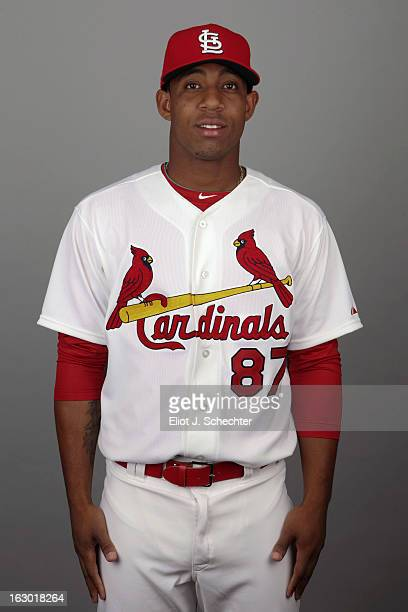 Oscar Tavares of the St Louis Cardinals poses during Photo Day on February 19 2013 at Roger Dean Stadium in Jupiter Florida