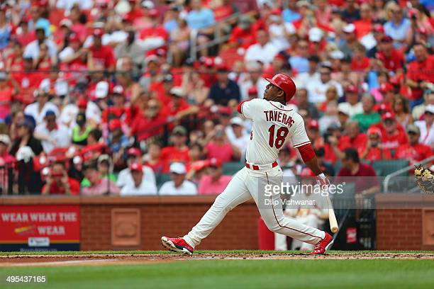 Oscar Taveras of the St Louis Cardinals bats against the San Francisco Giants at Busch Stadium on May 31 2014 in St Louis Missouri