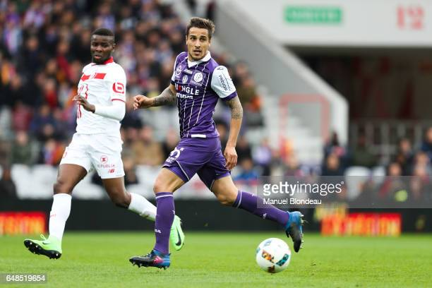 Oscar Trejo of Toulouse during the French Ligue 1 match between Toulouse and Lille at Stadium Municipal on March 5 2017 in Toulouse France