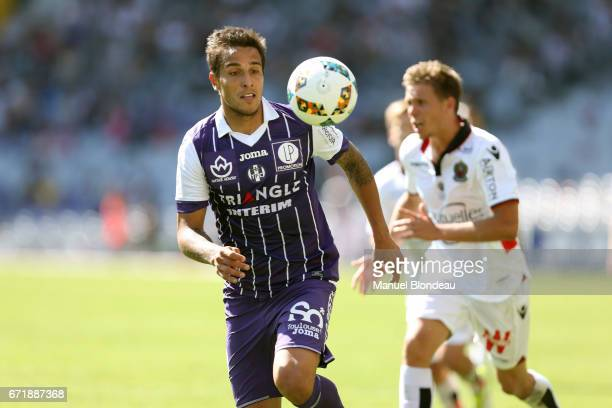 Oscar Trejo of Toulouse during the Ligue 1 match between Toulouse FC and OGC Nice at Stadium Municipal on April 23 2017 in Toulouse France