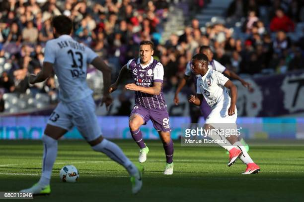 Oscar Trejo of Toulouse during the Ligue 1 match between Toulouse FC and SM Caen at Stadium Municipal on May 6 2017 in Toulouse France
