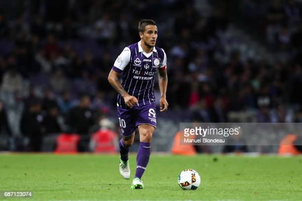 Oscar Trejo of Toulouse during the Ligue 1 match between Toulouse FC and Dijon FCO at Stadium Municipal on May 20 2017 in Toulouse France