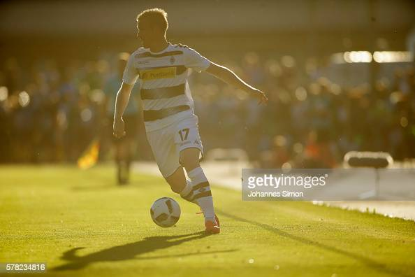 Oscar Wendt of Moenchengladbach in action during the friendly match between Borussia Moenchengladbach and TSV 1860 Muenchen on July 20 2016 in...