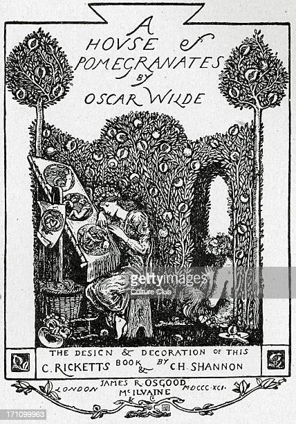Oscar Wilde Cover of the AngloIrish playwright novelist and poet's collection of fairy tales 'A House of Pomegranates' 1891 16 October 1854 30...