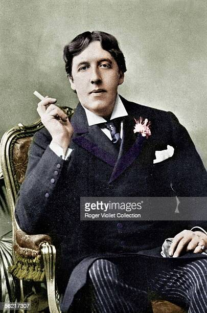 Oscar Wilde Irish writer Colourized photo