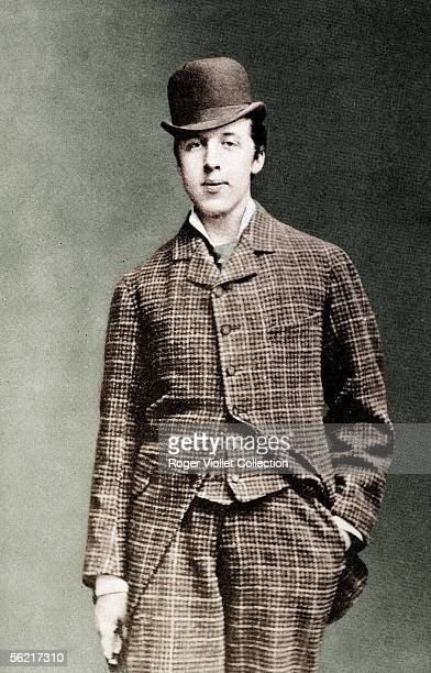 Oscar Wilde Irish writer Guillot de Saix collection Colourized photo