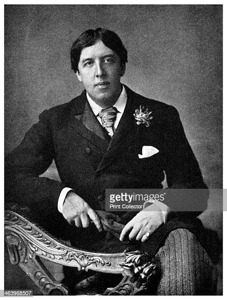Oscar Wilde Irishborn playwright and wit c1891 Pictured at the age of thirtyseven Wilde studied at Trinity College Dublin and at Magdalen College...