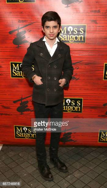 Oscar Williams attends The Opening Night of the New Broadway Production of 'Miss Saigon' at the Broadway Theatre on March 23 2017 in New York City