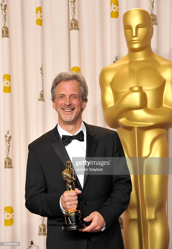 Oscar winner for Achievement in Film Editing for 'Argo', <a gi-track='captionPersonalityLinkClicked' href=/galleries/search?phrase=William+Goldenberg&family=editorial&specificpeople=7120519 ng-click='$event.stopPropagation()'>William Goldenberg</a> poses in the press room during the 85th Annual Academy Awards held at Hollywood & Highland Center on February 24, 2013 in Hollywood, California.