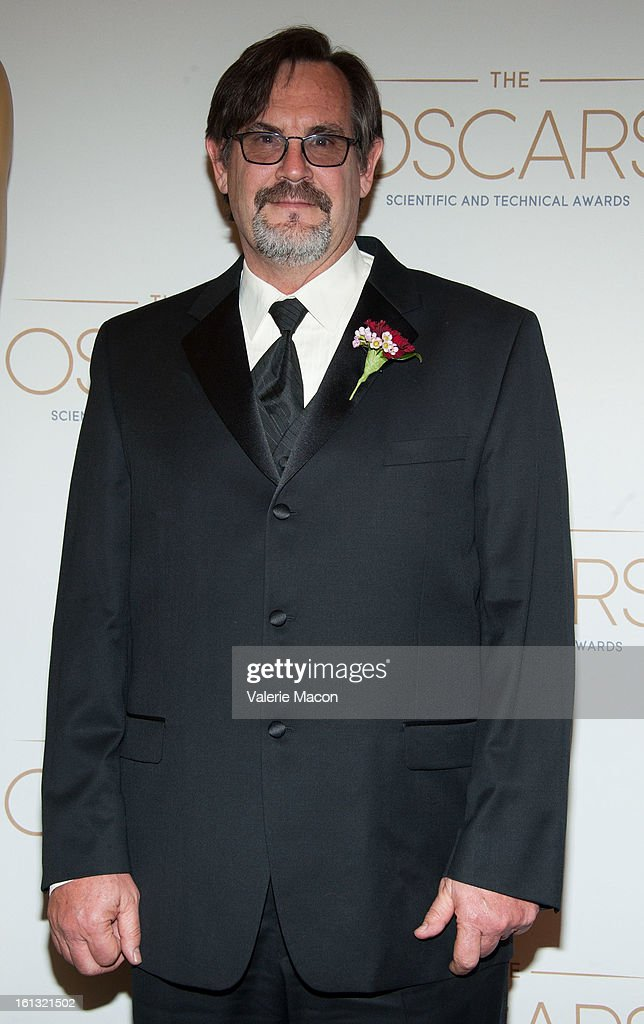 Oscar Winner for the design and development of the Mathews Max Menace Arm, Richard Mall arrives at the Academy Of Motion Picture Arts And Sciences' Scientific & Technical Awards at Beverly Hills Hotel on February 9, 2013 in Beverly Hills, California.