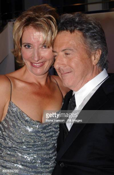 Oscar winning actors Emma Thompson and Dustin Hoffman at the Leicester Square for the UK premiere of Stranger Than Fiction in which they both star...