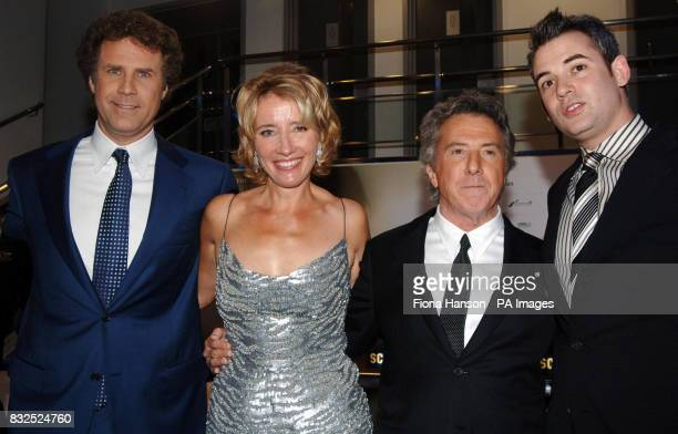 Oscar winning actors Emma Thompson and Dustin Hoffman at the Leicester Square UK premiere of Stranger Than Fiction in which they both star with US...