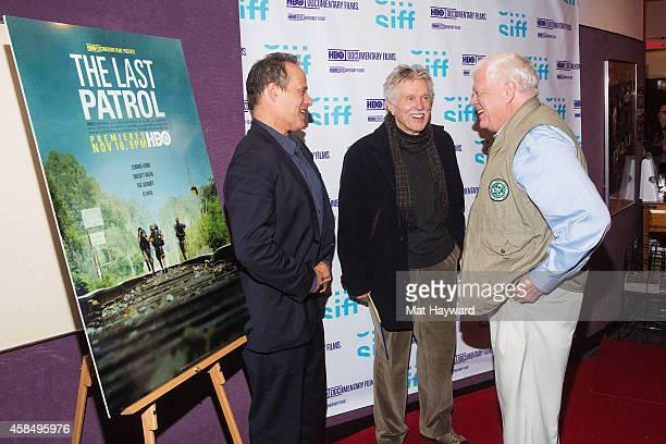 Oscarnominee journalist and filmmaker Sebastian Junger actor/director Tom Skerritt and US Representative Jim McDermott arrive at a screening of the...