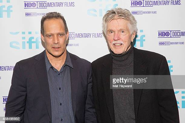 Oscarnominee journalist and filmmaker Sebastian Junger and actor director Tom Skerritt arrive at a screening of the documentary film 'The Last...