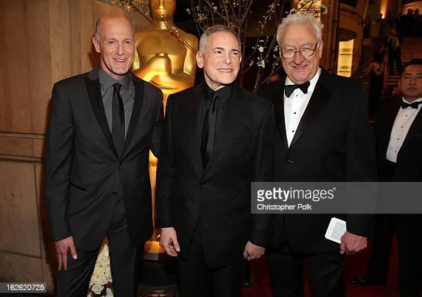 Oscar's Telecast Executive Producers Neil Meron and Craig Zadan and Oscar's Telecast Director Don Mischer arrive at the Oscars held at Hollywood...