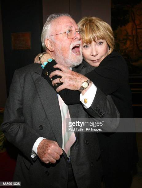 Oscarwinning actress Shirley MacLaine with Lord Attenborough at the Merchant Hotel in the centre of Belfast ahead of the world premiere of the film...